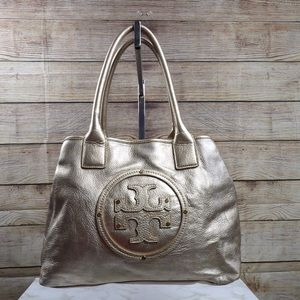 Tory Burch Gold leather Stacked tote